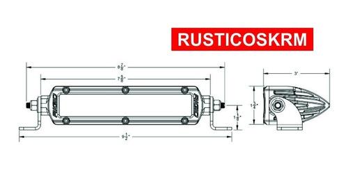 barra led 6 pulgadas delgada modelo sr series hibrida rigid