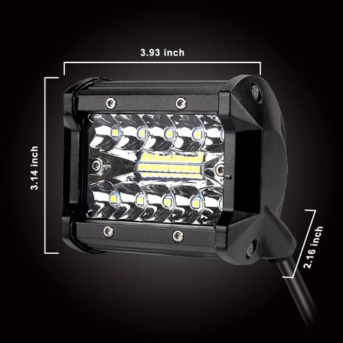 barra led 60w chip cree 12v 24 v original chip phillips®
