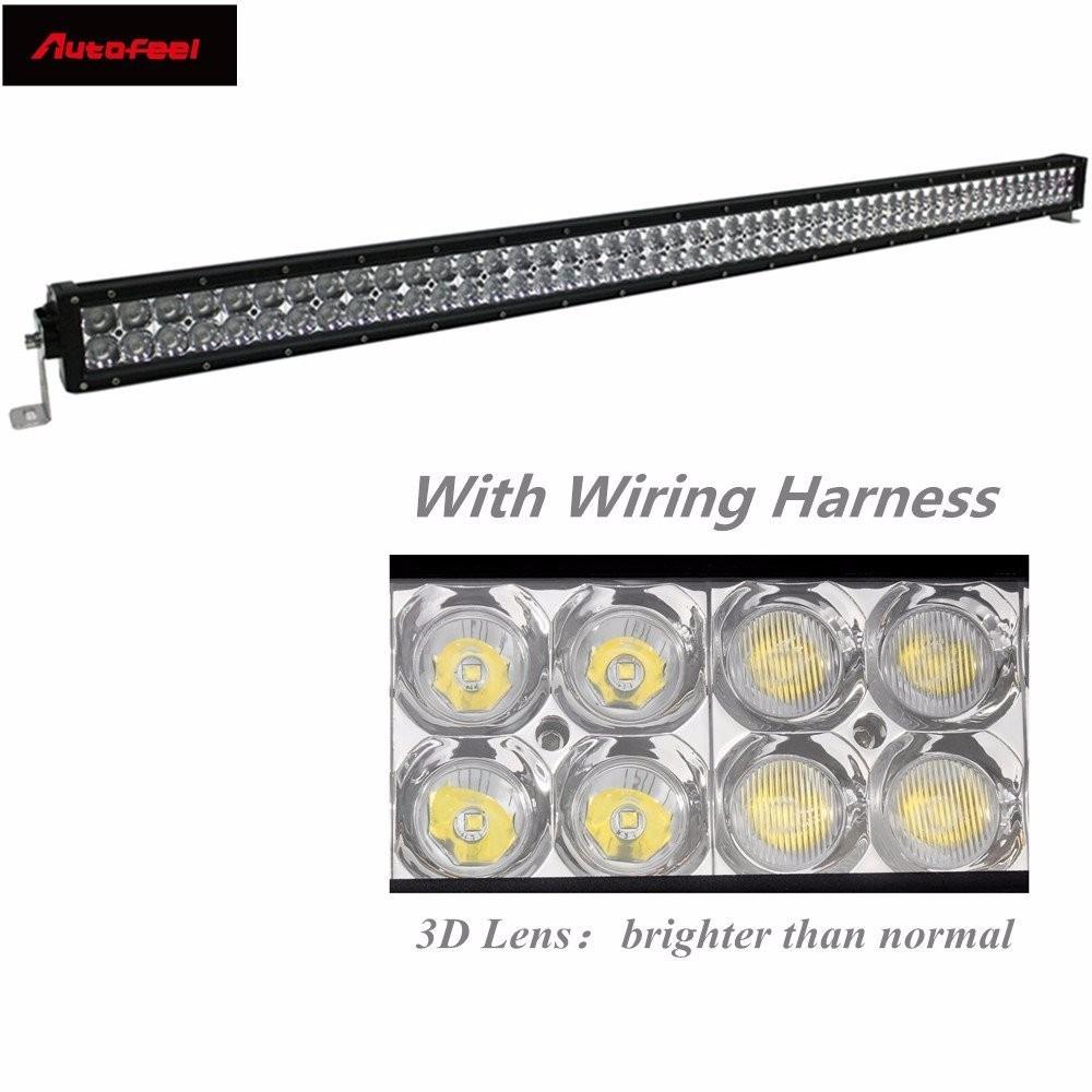 Barra Led Autofeel 50 Inch 288w Philips Light Bar Flood Wiring Harness Cargando Zoom
