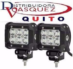 barra led cree 18w 10cm para jeep 4x4 utv awd garantia 1 año