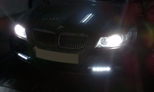barra led daytime running color blanco y azul  club tunning!