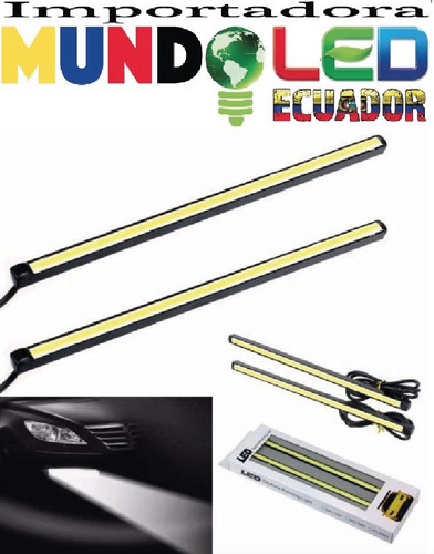 barra led daytime running light color blanco y azul