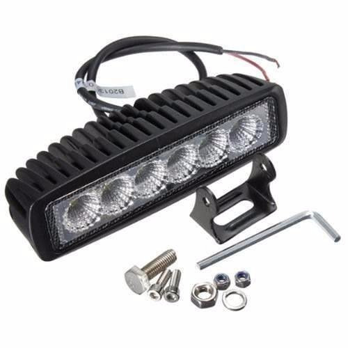 barra led faro 18w jeep 4x4 auto camioneta bus atv