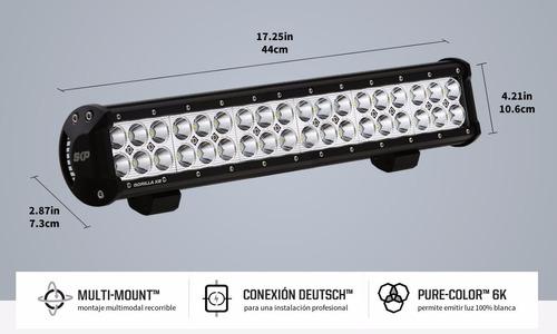 barra led gorilla x2 108w - 44cm/17.25 rzr, 4x4, cuatrimoto
