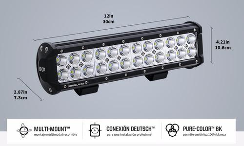 barra led gorilla x2 72w - 30cm/12in rzr, 4x4, cuatrimoto
