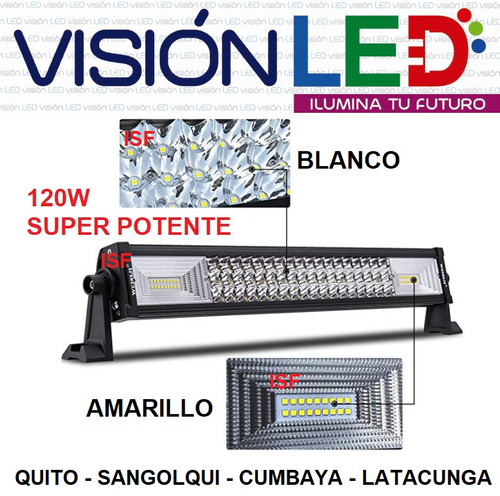 barra led recta 120w camioneta 4x4 super potente - tuning