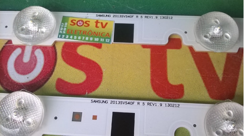 barra led samsung un40f5200ag 2013svs40f r 5 leds 130212