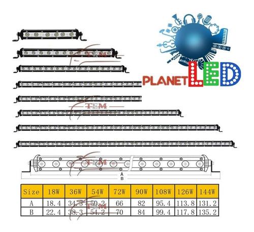 barra led slim reforzada todas las medidas potente 12v-24v