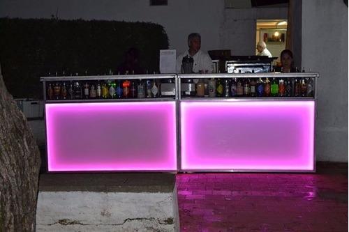 barra libre alquiler de barman, choperas cerveza, barras led