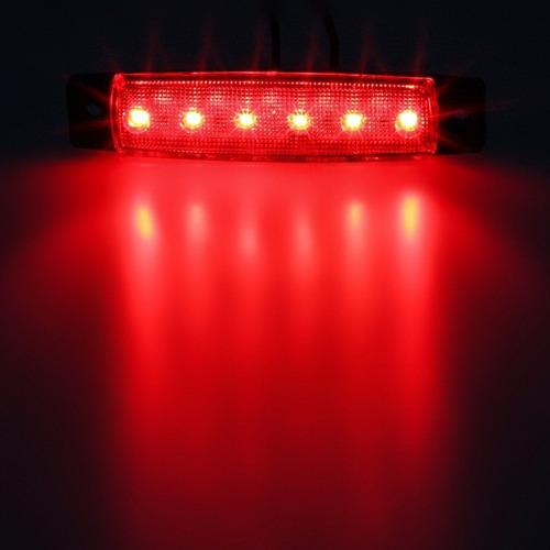 barra luces de 6 led color rojo, remolques camiones trailer