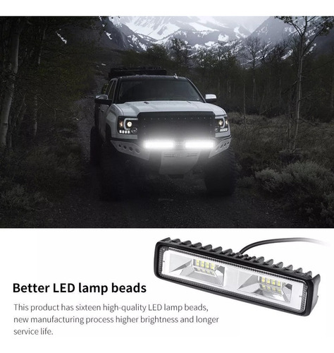 barra luces faros led 48 watts slim 6500k el par 25 trump