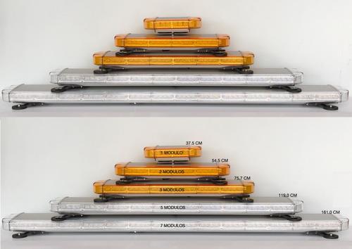barra luces led - baliza 1.61m para grúas y vehículos carga
