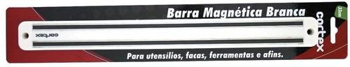 barra magnética branca 33cm para facas ferramentas - cortex