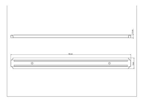 barra magnetica tramontina 55cm iman cuchillos cuchillas
