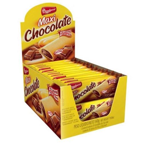 barra maxi chocolate c/20 - bauducco