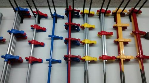 barra metegol estadio n2 y n3 clásico 3 muñecos plásticos