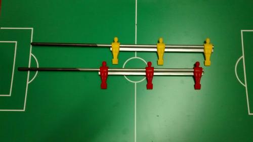 barra metegol estadio n2 y n3 de 3 muñecos plásticos