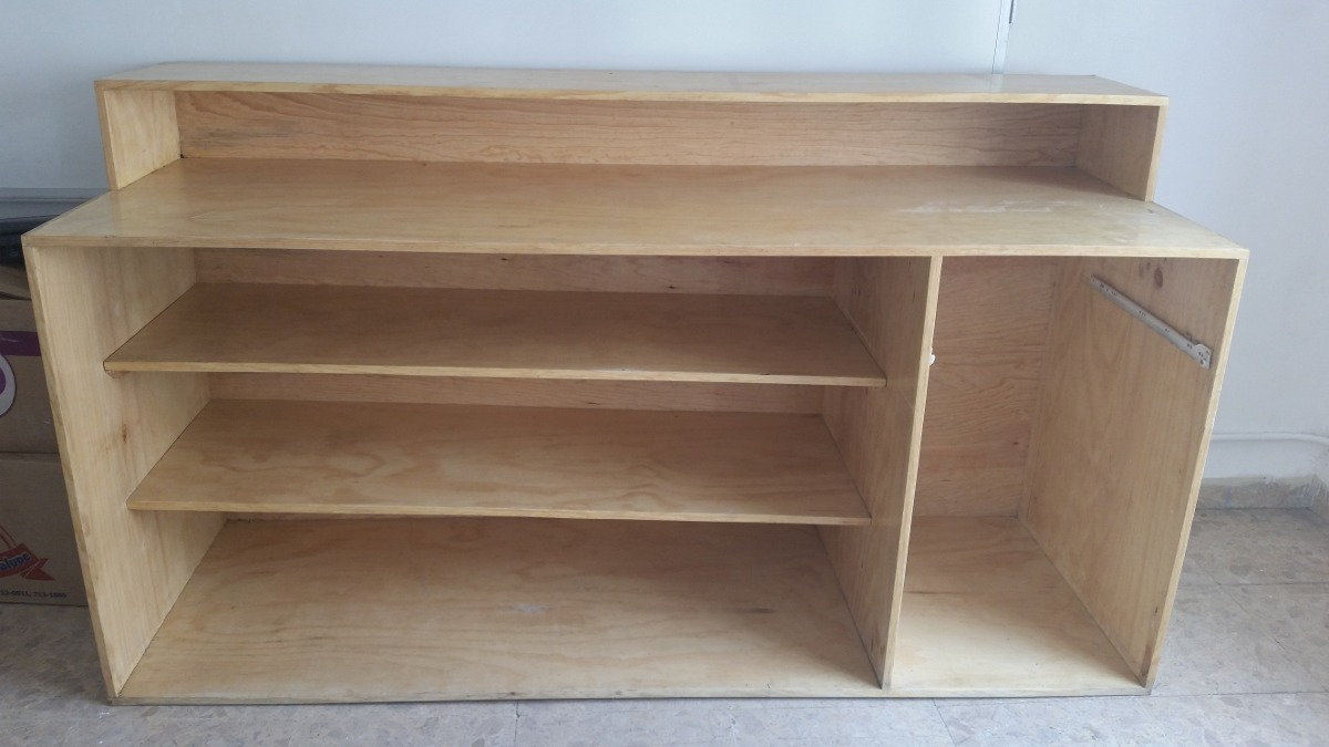 Barra mostrador de madera 4 en mercado libre for Formica madera