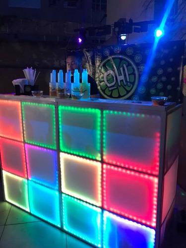 barra movil  de bebidas +  luces + sonido oh barras