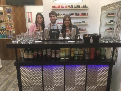 barra móvil de tragos - servicio de bartender - eventos