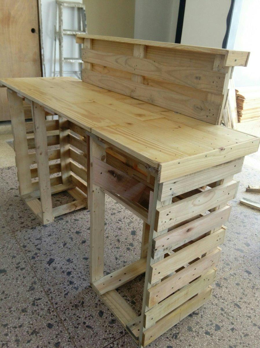 Barra m vil en paletas modular pallets pino bs for Bar de madera de pino
