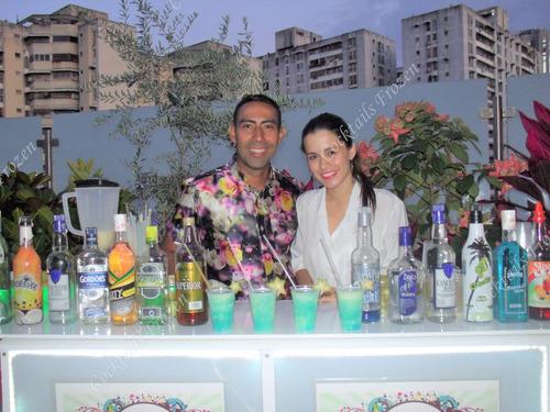 barra movil halloween + ron de tequila. todo incluido!!!!