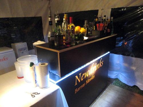 barra movil p eventos servicio de bartender tragos alquiler