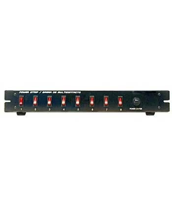 barra multicontacto switchera 8 contactos con apagadores