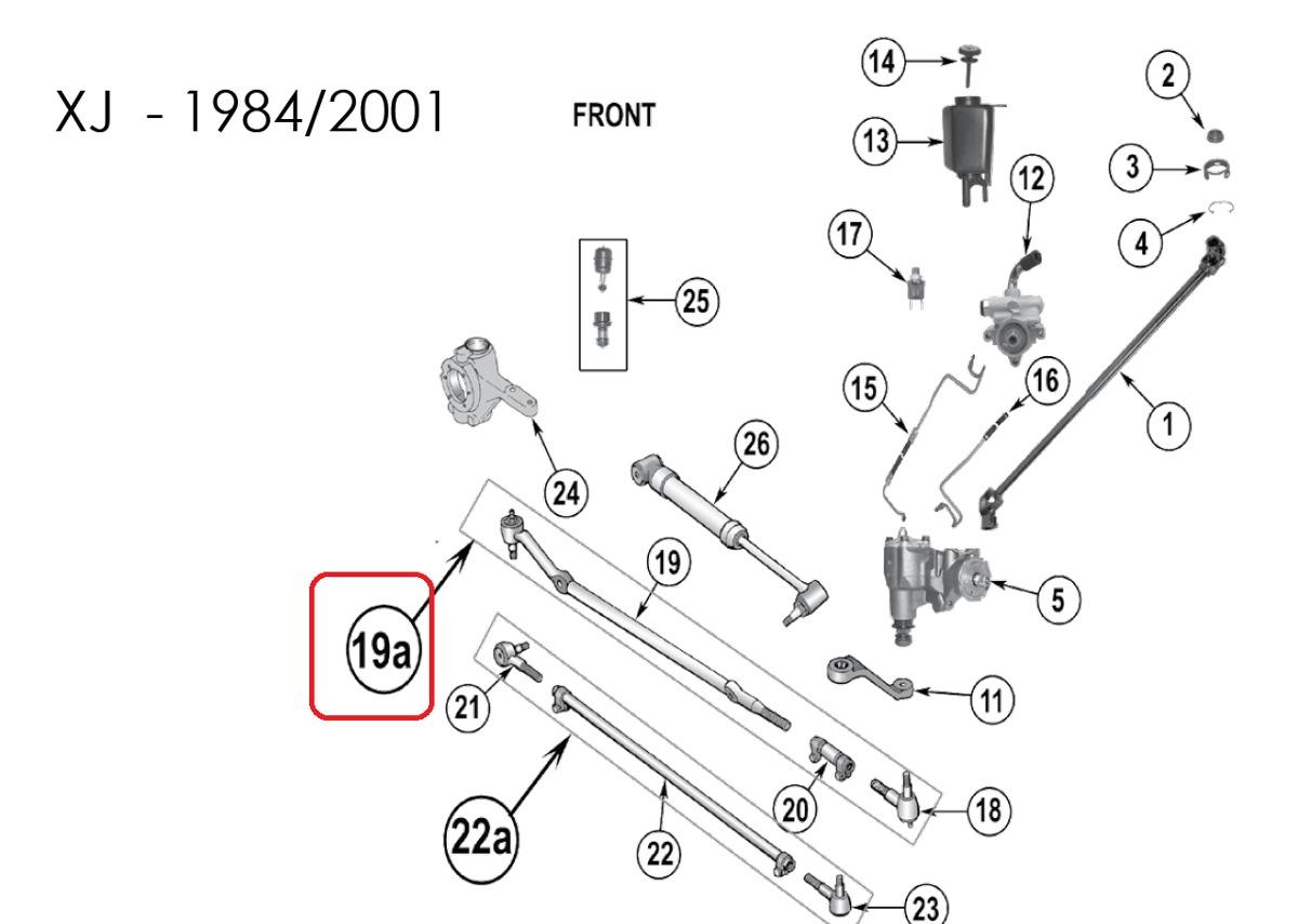 barra panhard com terminal dire u00e7 u00e3o jeep cherokee sport 91
