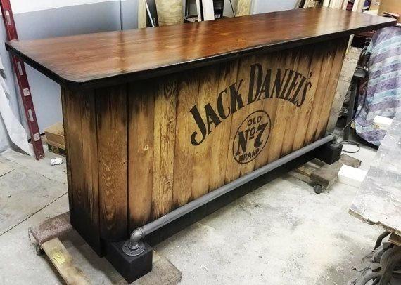 Barra para cantina elegante estilo palets 7 en - Barra de bar madera ...