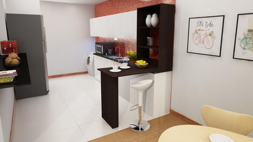 barra para cocina con mesa plegable tipo desayunador o escritorio - flotante - 1431