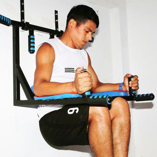 barra para dominadas 6 en 1 paralelas  calistenia ejercicios