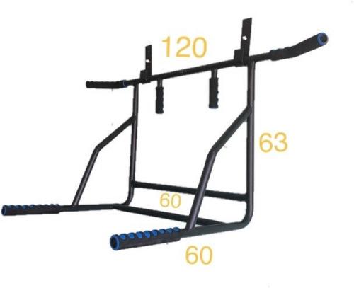 barra para dominadas 8 en 1 uso rudo gym abdominales pared