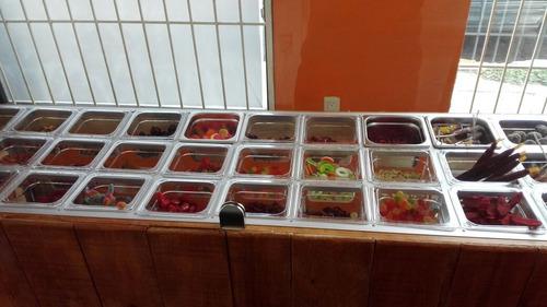 barra para insertos ensaladas o dulces