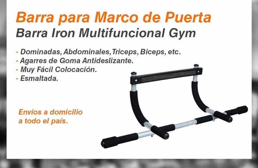 Barra Para Marco De Puerta Iron Entrenamiento Dominadas Gym - $ 819 ...