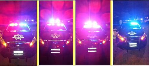 barra parabrisas led cree estrobo azul/rojo y blanco/rojo