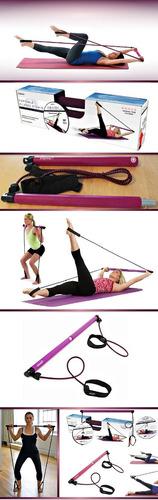 barra pilates equipo portatil empower fitness tonifica + dvd