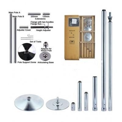 barra pole dance caño profesional ajustable giratorio