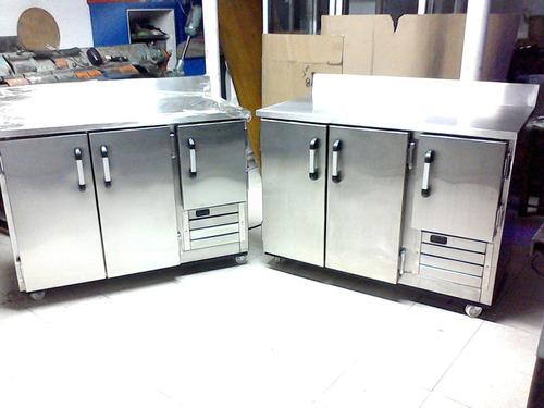 barra refrigerada mesón refrigerado de trabajo