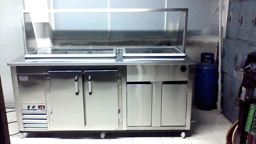 barra refrigerada, topinera, barra para ensalada tipo subway