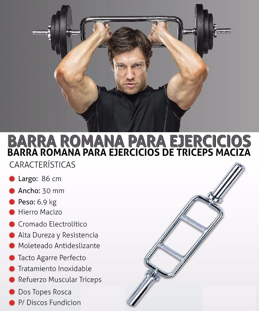 Barra Romana Acero Cromado, Brazos, Biceps, Triceps Y + Vqz - S/ 119 ...