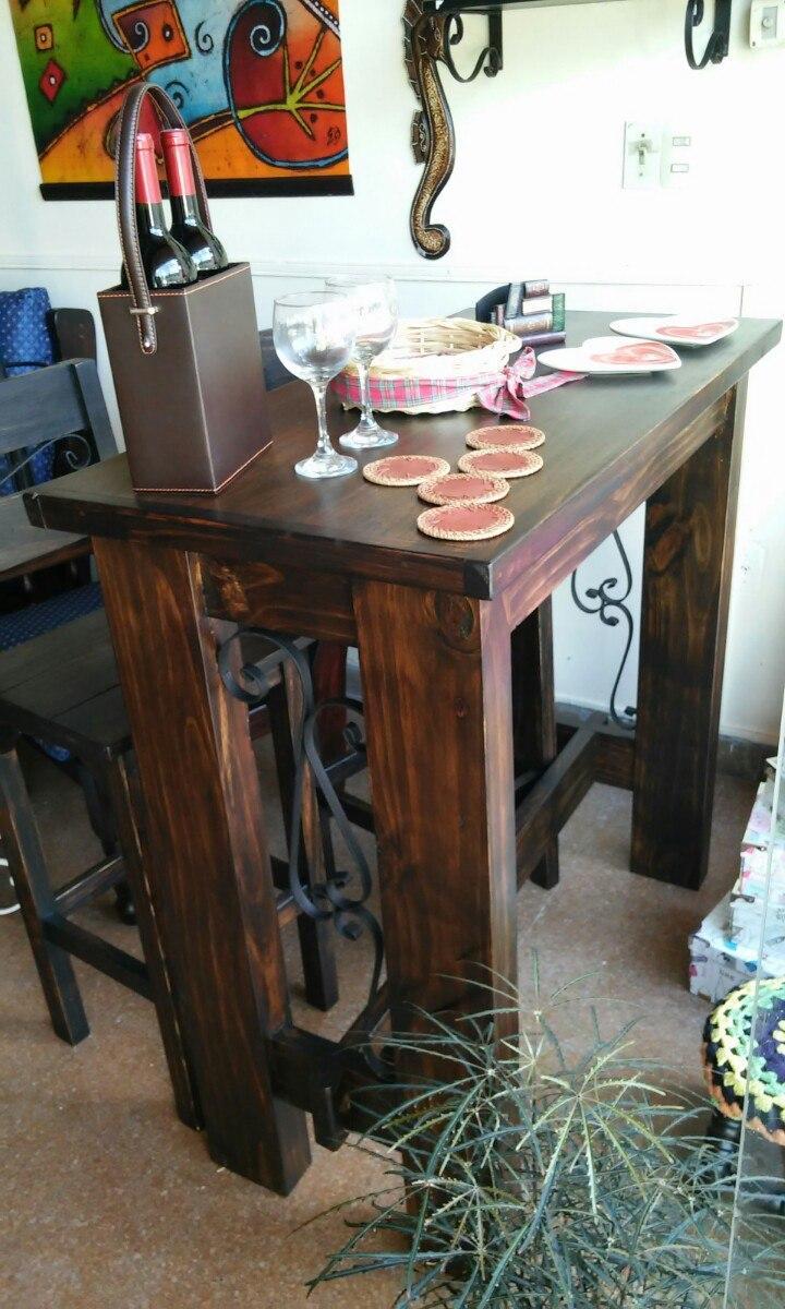 Barra r stica madera maciza en mercado libre for Muebles madera maciza uruguay