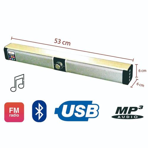 barra sonido bluetooth 53 cm 5w usb, fm, sd, mp3, + obsequio