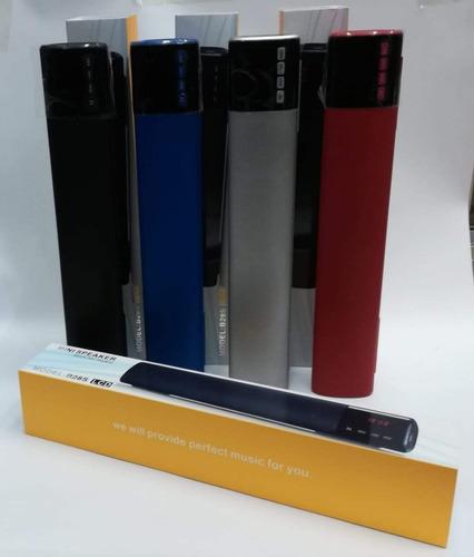 barra sonido bluetooth led 10w usb, fm, sd 40cm pantalla