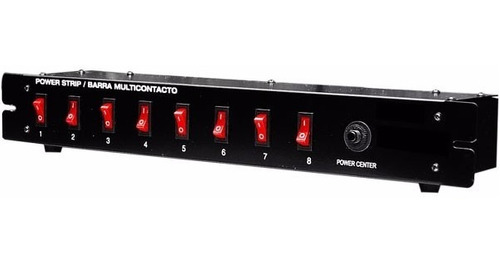 barra switchera 8 multicontactos para rack o uso lineal woow