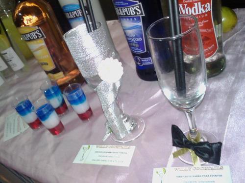 barra tragos servicio fiestas eventos