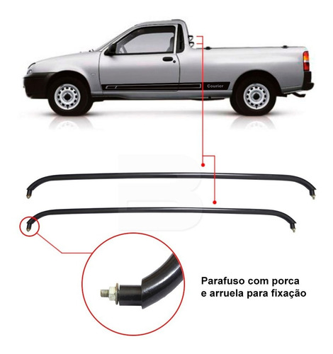 barra traseira pick up ford courier