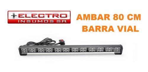 barra vial 1209-6 color ambar 80cm director de trafico via
