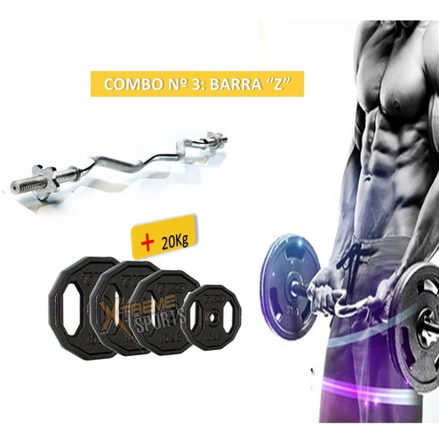 barra  zeta + 20 kilos de discos de hierro xtreme sport peru