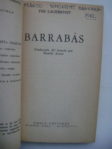 barrabás / pär lagerkvist / emecé editores / buen estado